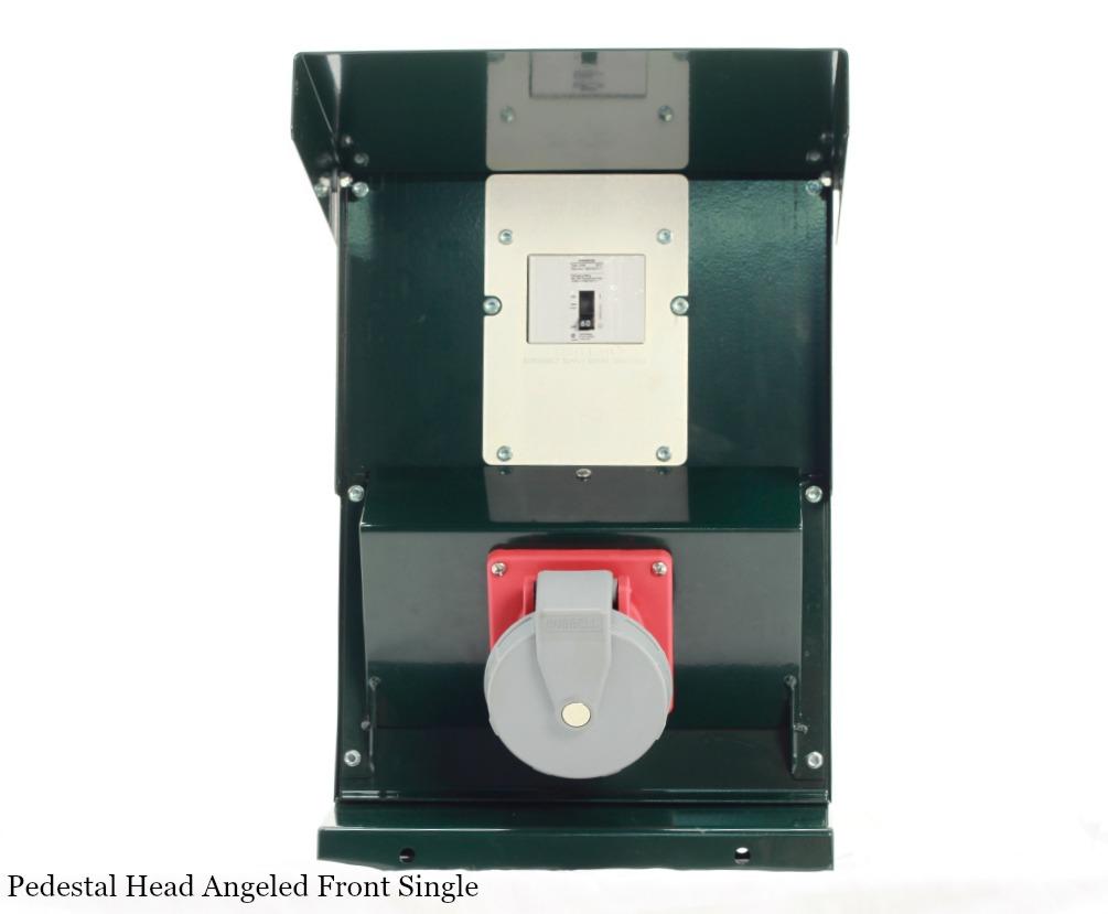 Pedestal Head Single Outlet – Angled Front : HTM Snowmaking